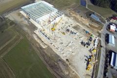 HTI Zentrallager Neubau von oben