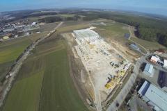 HTI Zentrallager Bau von oben